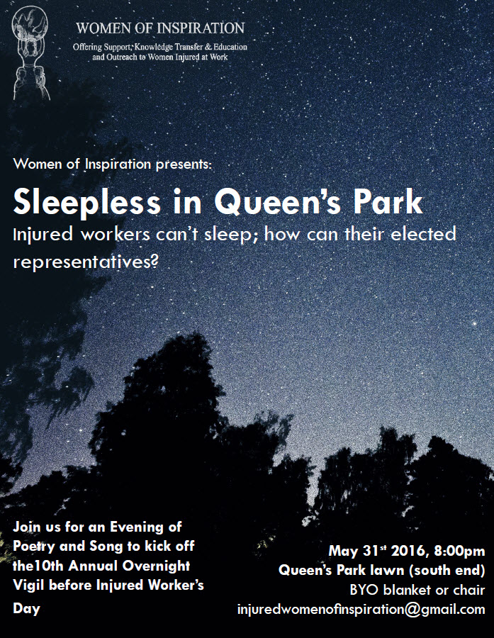 Women of Inspiration May 31st vigil flyer