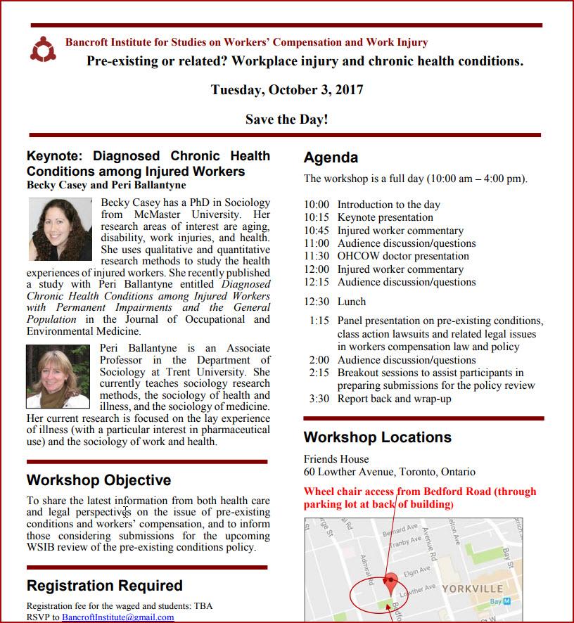 Program for Oct 2017 Bancroft Institute workshop