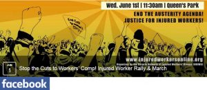 banner for Injured Workers Day 2016 Facebook event