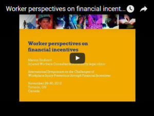 video of Marion Endicott's presentation to 2012 symposium on financial incentives