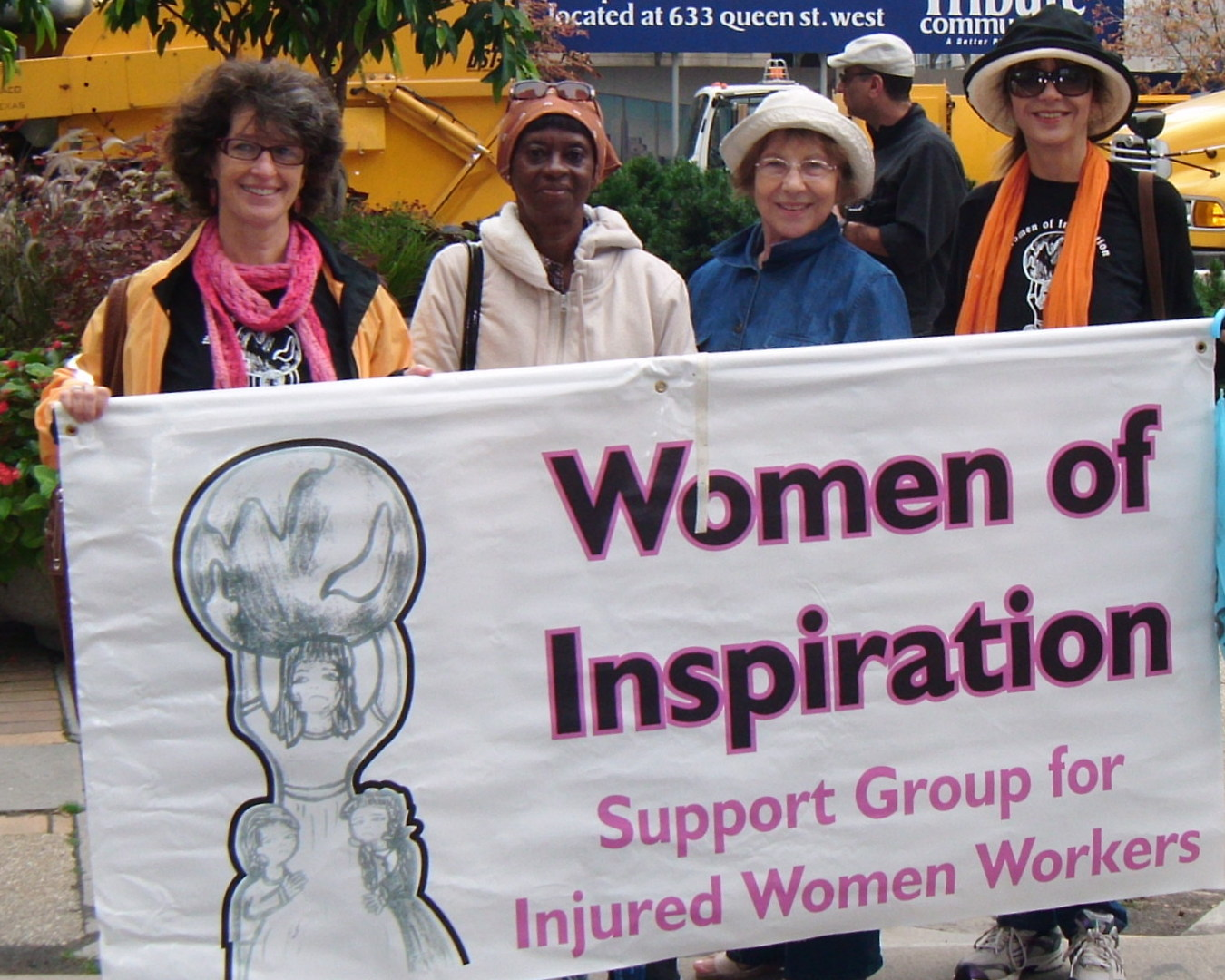 Women of Inspiration march in Labour Day rally