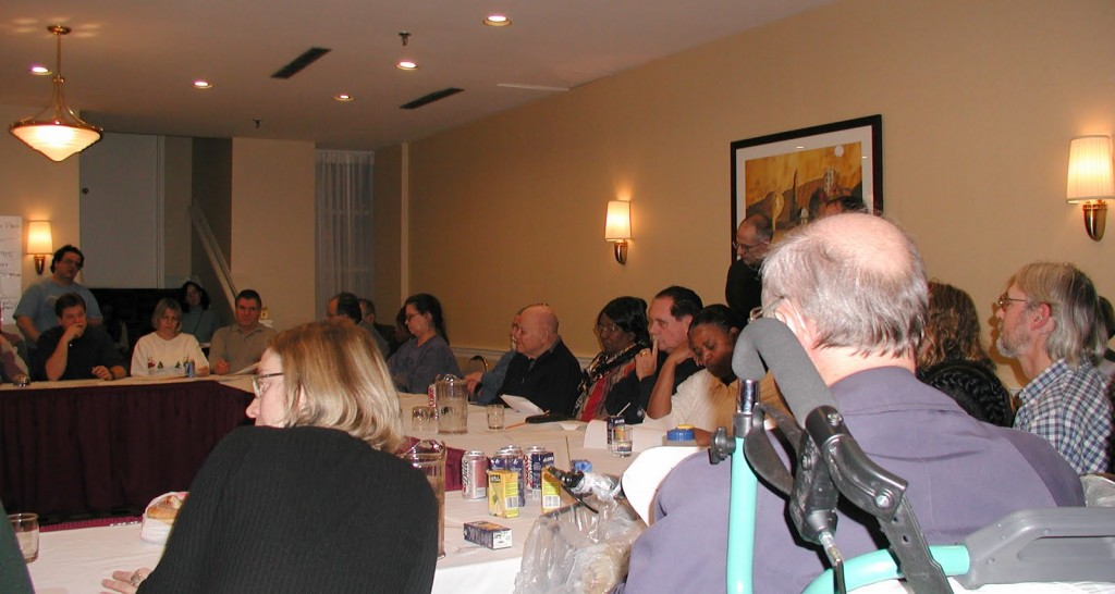 around the table at the educational session