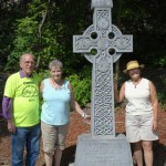 Karl Crevar, injured worker & Margery Wardle at Celtic Cross memorial, Ottawa May 24 2015