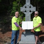 Karl & Peter with the Big Book of Injured Workers, Celtic Cross, Ottawa May 24 2105