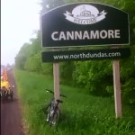 Heading along the road into Cannamore