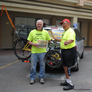 Peter & Richard with the support car