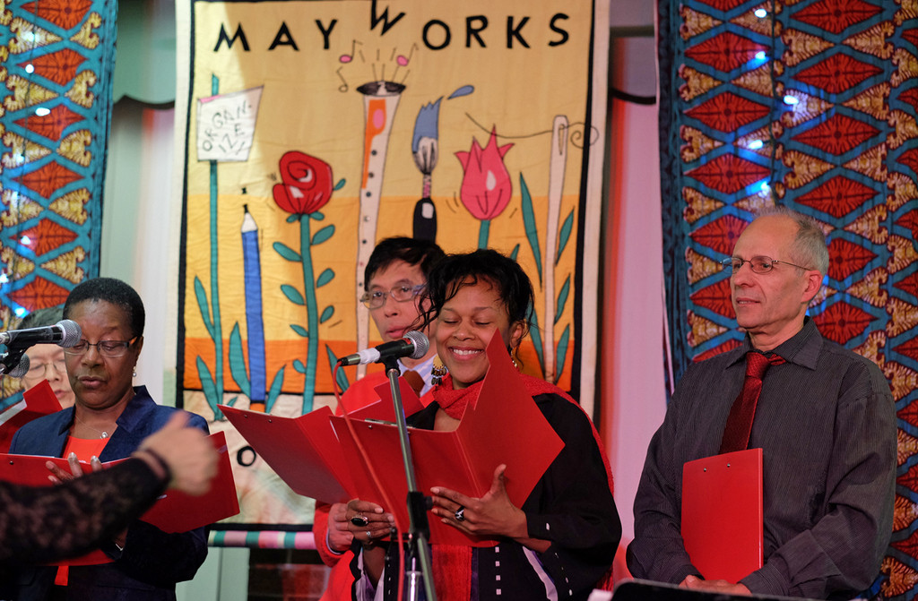 Justice Singers perform at the Mayworks 2016 Awards