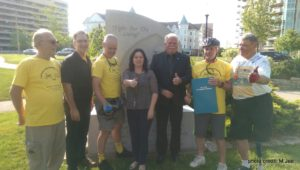 Percy Hatfield with Justice Bike Riders and Windsor supporters