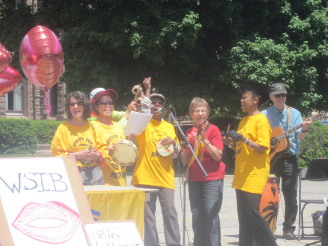 Justice Singers at Queen's Park, Injured Workers Day 2014