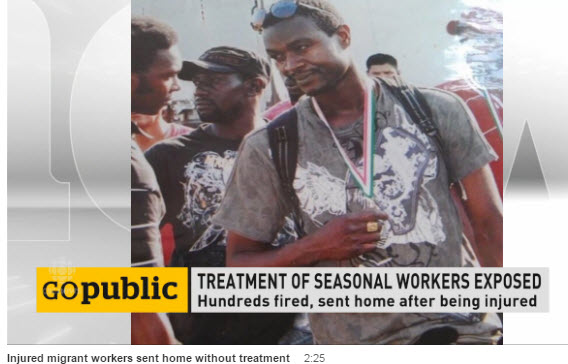 CBC video of injured migrant workers
