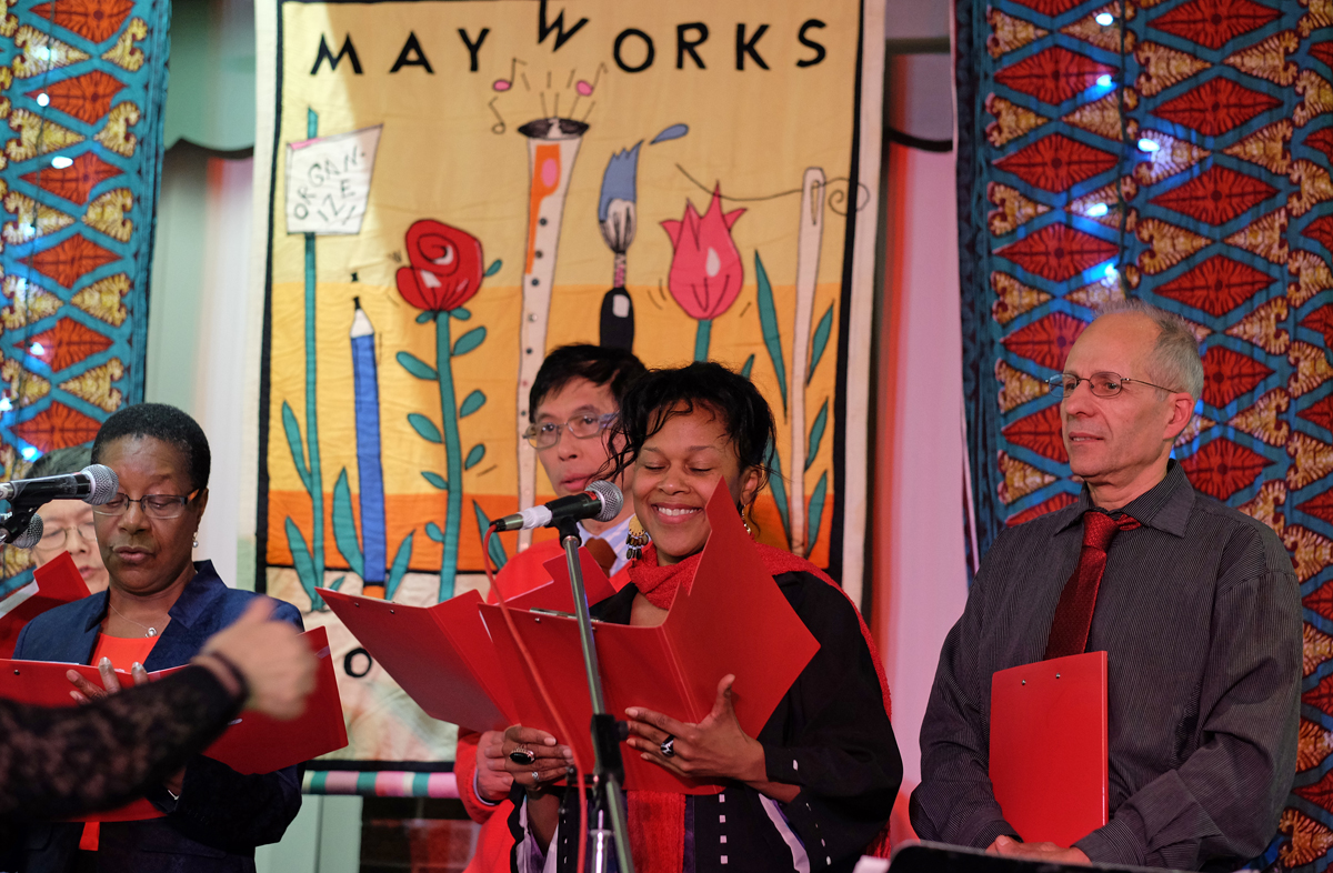 Justice Singers at Min Sook Lee award to IWC, 2016