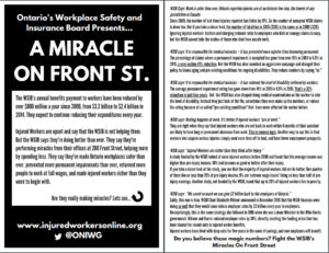 A miracle on Front St flyer - examining WSIB claims