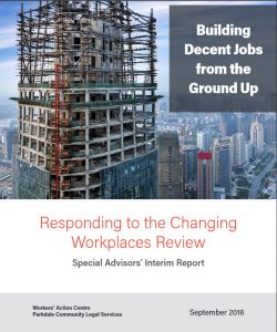 cover of the report Building Decent Jobs From the Ground Up