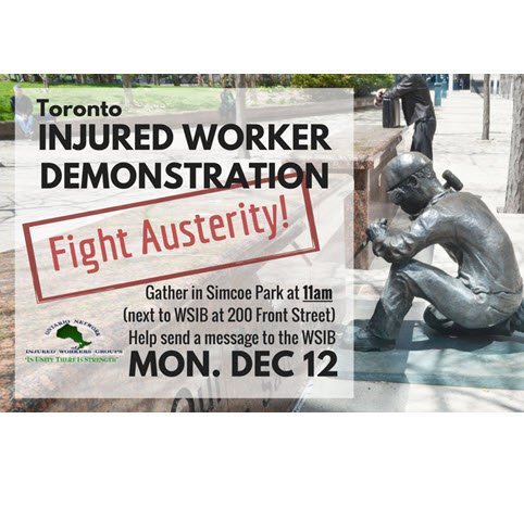Injured worker December demonstration flyer