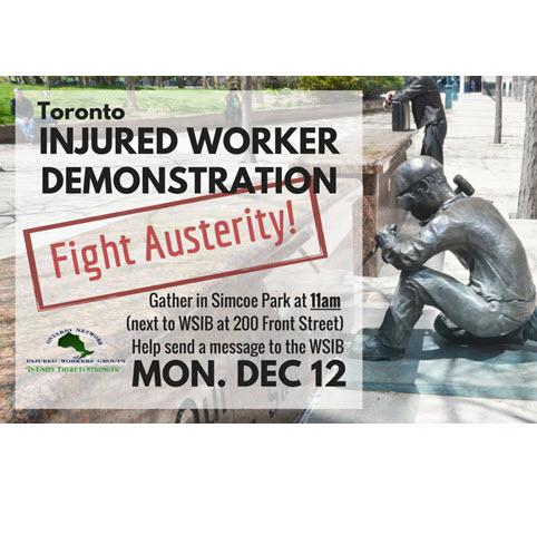 Injured worker December demonstration flyer