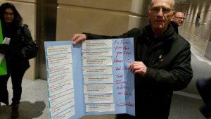 Card with list of media headlines on the WSIB