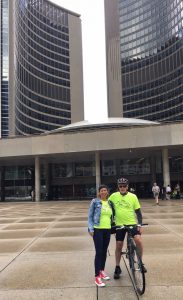 NIcole and Peter at City Hall Toronto