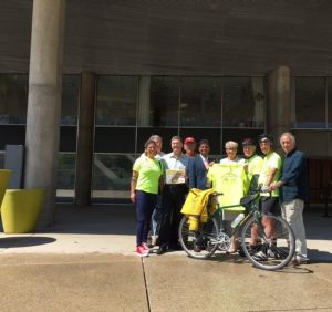 riders meet with councillors & representatives at Toronto City Hall
