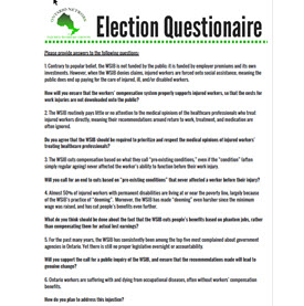 Election questionnaire to candidates
