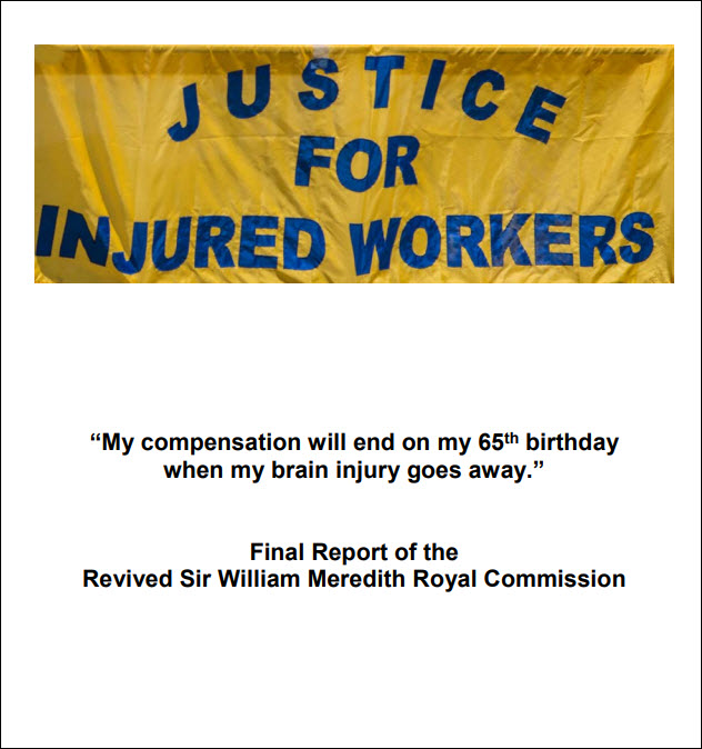 Cover linking to Revived Meredith Commission report