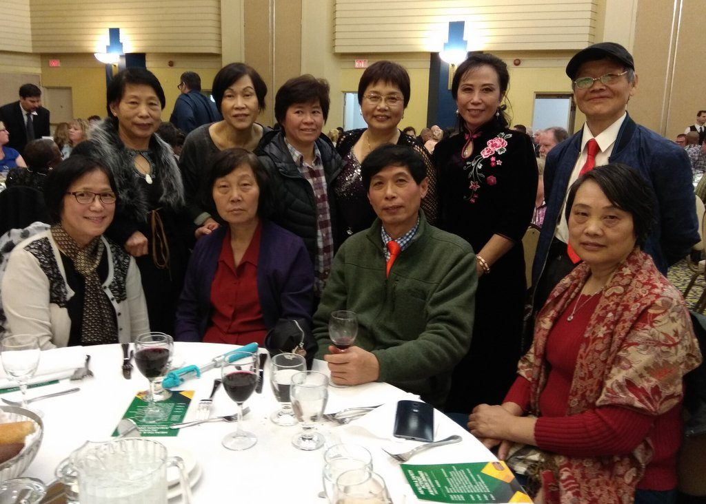 Chinese Injured Workers Group members at the Eddie Cauchi activist awards dinner 2017