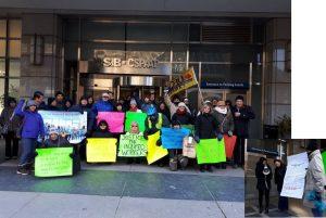 WCIAR Toronto action outside WSIB