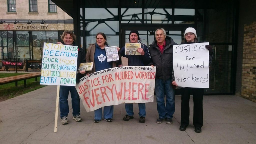 Injured workers hold WCIAR campaign event in Kitchener