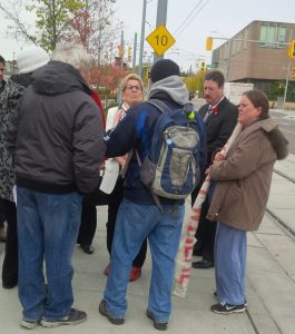 Injured workers discuss WCIAR Campaign demands with Premier Wynne