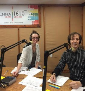 CCHA radio station interview on WCIAR campaign for Buena Paga