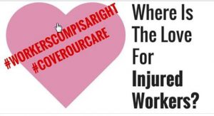 Workers Comp Is A Right valentine logo