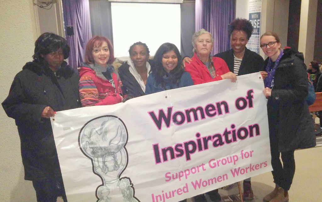 Women of Inspiration at Internatinal Women's Day 2018 rally, OISE