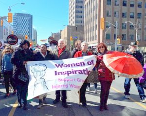 Women of Inspiration and Peter Tabuns MPP march
