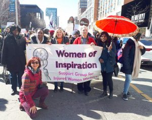 Marching on Toronto streets 2018 International Women's Day