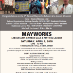 Don't  miss! Mayworks Labour Arts Awards Gala and ….