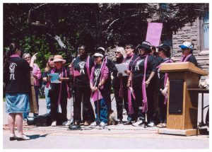 Women of Inspiration at Queen's Park on Injured Workers Day, 2005