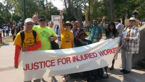 Injured workers join the 2017 Labour Day parade