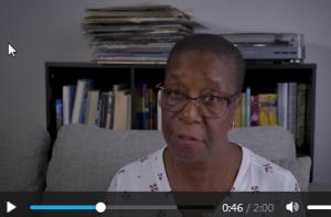 video of Beryl BRown reading her poem