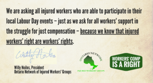 Labour Day message from ONIWG