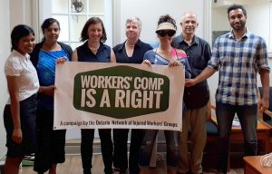 injured workers take campaign to MPP Jessica Bell's office