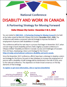 Poster National Conference Disability and Work in Canada