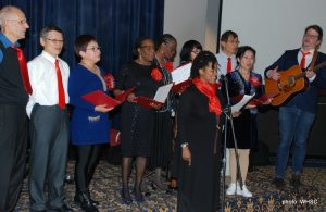 Justice Singers perform at the Awards dinner