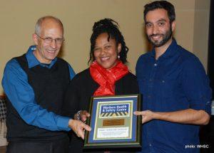 Orlando Buonastella, Heather Cherron Von Atzigen receiving award, Aidan Macdonald