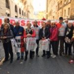 asbestos activists protest in Rome
