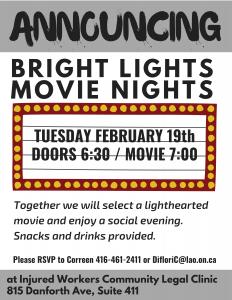flyer for Bright Lights movie night