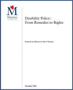 Torjman study on disability policy