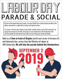 Labour Day Toronto parade poster September 2 2019