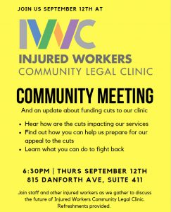 IWC September 12 community meeting poster