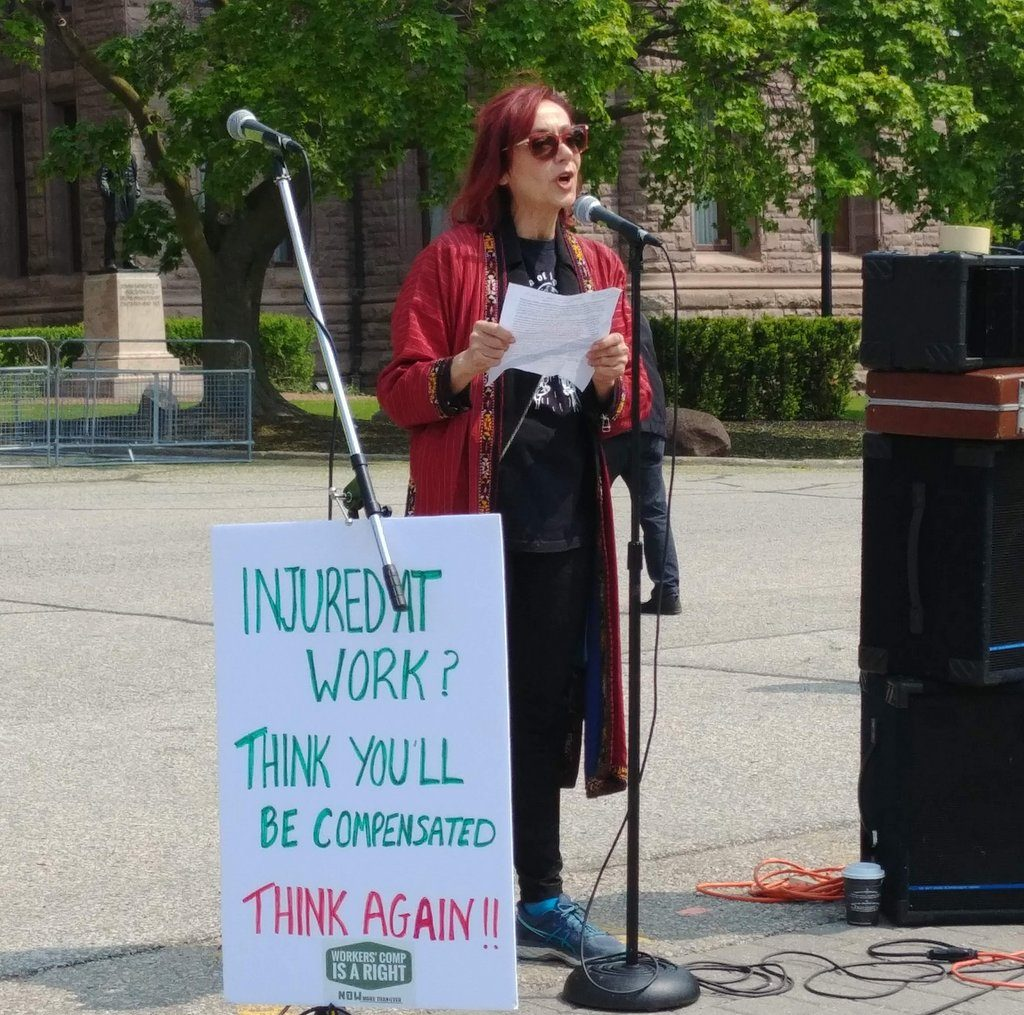 Speaking out at the 2019 Injured Workers Day event