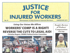Justice for Injured Workers issue number 15