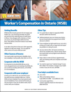 Quick tips on workers' compensation
